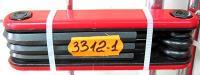 Шестигранники набор в ноже KMS 5 шт + 2 отвертки