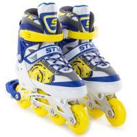 Ролики раздвижные Start Up Style синий/желтый