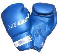 Боксерские перчатки профессиональные синие 16 унц.