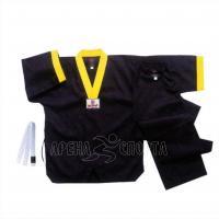 Униформа для тхэквондо, рост 140, черная