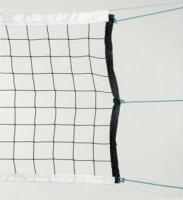Сетка волейбольная нить 2,2 мм, с тросом, черная