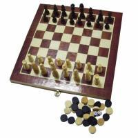 Набор 3 в 1(шахматы, шашки, нарды) 32*16*4 см W001L